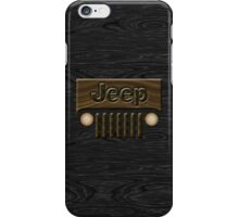 Wooden Jeep Willys ~ Black [Update] iPhone Case/Skin