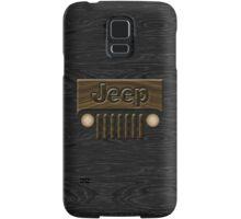 Wooden Jeep Willys ~ Black [Update] Samsung Galaxy Case/Skin