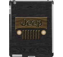 Wooden Jeep Willys ~ Black [Update] iPad Case/Skin