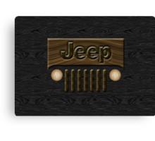 Wooden Jeep Willys ~ Black [Update] Canvas Print