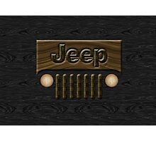 Wooden Jeep Willys ~ Black [Update] Photographic Print