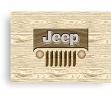 Wooden Jeep Willys [Update] Canvas Print