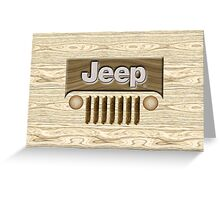 Wooden Jeep Willys [Update] Greeting Card