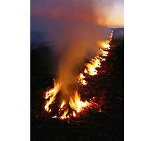Burning off at Bundaberg Photographic Print