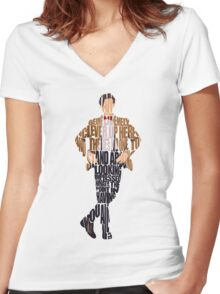 Eleventh Doctor - Doctor Who Women's Fitted V-Neck T-Shirt