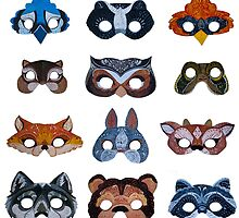 Upcycled Woodland Critter Masks by apcomfort