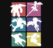 Big Hero 6, colored! One Piece - Short Sleeve