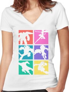 Big Hero 6, colored! Women's Fitted V-Neck T-Shirt