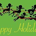 Poodle Sleigh by Wendy Wahman