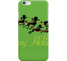 Poodle Sleigh iPhone Case/Skin