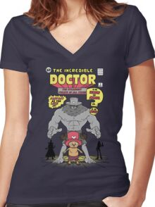 The Incredible Doctor Women's Fitted V-Neck T-Shirt