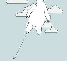 Baymax in the cloud! by Julien Missaire