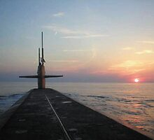 USS Louisiana Sunset by Kiersten Giuliano