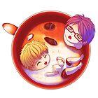 Nagisa and Rei Latte by BumbleBeesh