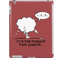 It's The Thought That Counts... iPad Case/Skin