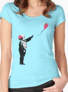 Balloon Clown Women's Fitted Scoop T-Shirt