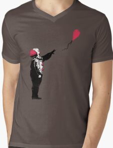Balloon Clown Mens V-Neck T-Shirt