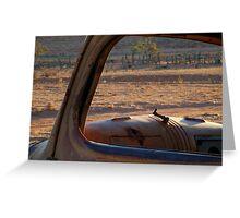 Station Wreck,Old Andado, Simpson Desert Greeting Card