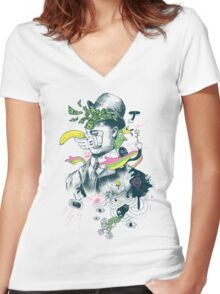 The Surreal Bandit Women's Fitted V-Neck T-Shirt