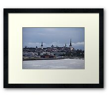 Tallinn view from the sea Framed Print