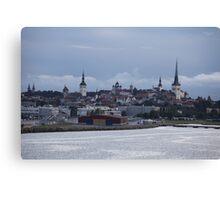Tallinn view from the sea Canvas Print