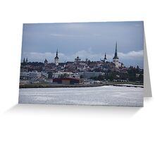 Tallinn view from the sea Greeting Card