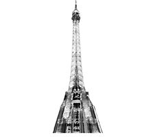 Eiffel Tower T Shirt - Abstract by Lynchie