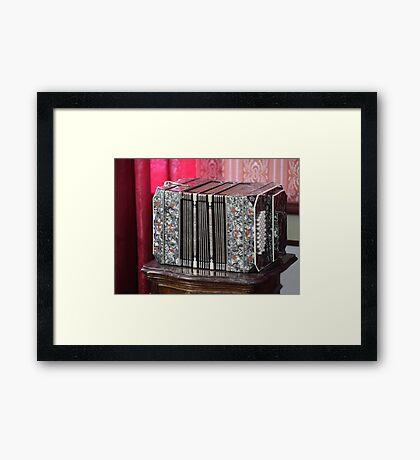 old Harmonica Framed Print