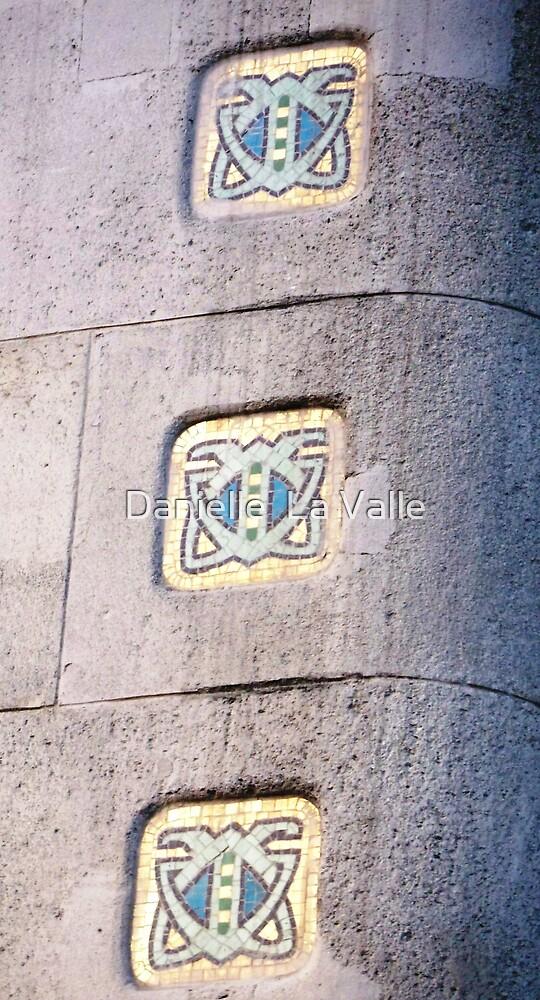 Entrance to Gresham Palota (detail of Art-Deco mosaic inlays) by Danielle  La Valle
