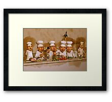 Too Many Cooks Spoil The Broth Framed Print