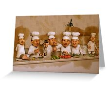 Too Many Cooks Spoil The Broth Greeting Card