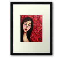 Behind the Scar Framed Print
