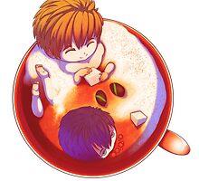 Makoto and Haruka Latte by BumbleBeesh