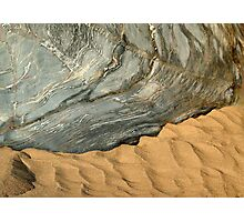 rock and sand ripples Photographic Print
