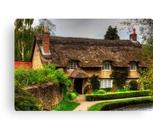 Cottage by the Thornton Beck Canvas Print