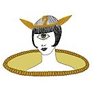 Cyclops Louise Brooks as Egyptian Valkyrie with All-Seeing Eye by SusanSanford