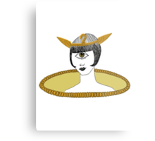 Cyclops Louise Brooks as Egyptian Valkyrie with All-Seeing Eye Metal Print