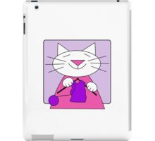 Knitting Kitty iPad Case/Skin