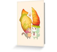Taiyaki and carrots Greeting Card