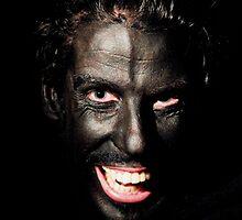 Man on black by Benedicte Longechal