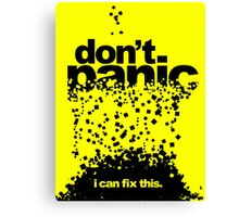 Don't Panic Canvas Print