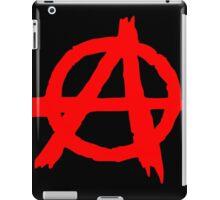 ANARCHY SYMBOL (RED ON BLACK) iPad Case/Skin