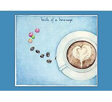 Birth of a Beverage in Blue Photographic Print
