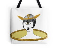 Cyclops Louise Brooks as Egyptian Valkyrie with All-Seeing Eye Tote Bag