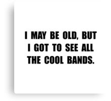 Old See Cool Bands Canvas Print