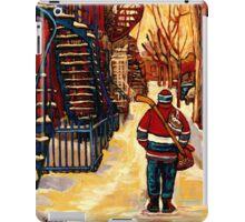 CANADIAN WINTER SCENES PAINTINGS FOR SALE BY CANADIAN ARTIST CAROLE SPANDAU iPad Case/Skin