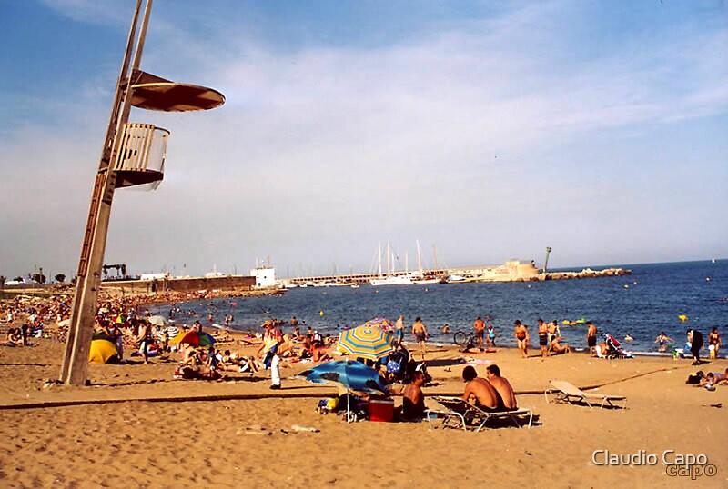 Beach Unguarded by Claudio Capo