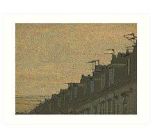 Rooftops Art Print