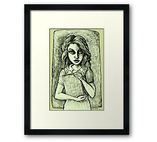 The Librarian - Tinted Framed Print