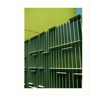 green fence Art Print